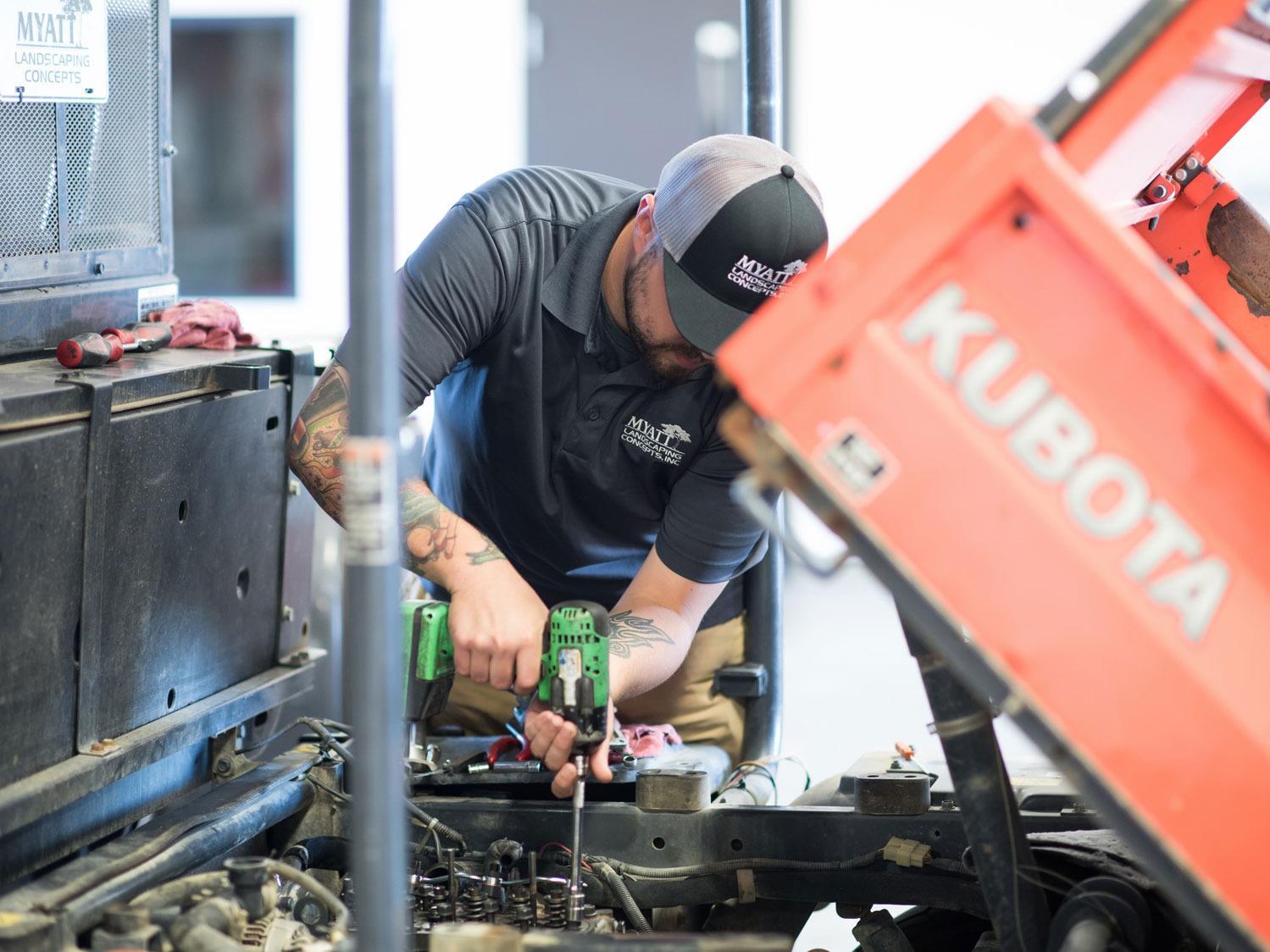 Myatt Mechanic Working